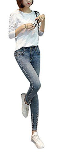 New Trending Denim: Lingswallow Womens Straight Jeans Skinny Fit Legging Blue Stretch Denim Pants. Lingswallow Women's Straight Jeans Skinny Fit Legging Blue Stretch Denim Pants  Special Offer: $28.75  177 Reviews Measurement:26:Length:34.25 inch/87cm.Waist:24.41 inch/62cm.Hip:32.28 inch/82cm. === 27:Length:34.25 inch/87cm.Waist:25.20 inch/64cm.Hip:33.07 inch/84cm. ===...