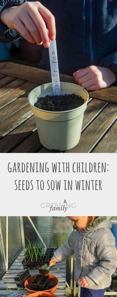 Need ideas for getting the kids outdoors in winter? Get them busy in the garden with a fun grow your own project. This step-by-step guide shows you what seeds to plant in winter and how to do it - easy, quick and lots of fun!