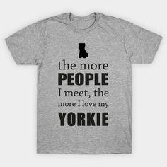 The More People I Meet - Yorkie by bestsellers