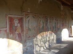 Affreschi del portico della Chiesa di Santa Maria in Pietrarossa (XIV sec.)