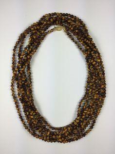 Janet Deleuse Designer Tiger Eye Necklace