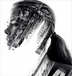 Here I have a beautiful collection of most amazing double exposure photography portraits by French artist Nevess. Photoshop Art, Photoshop For Photographers, Photoshop Photography, Urban Photography, Color Photography, Creative Photography, Portrait Photography, Minimalist Photography, White Photography