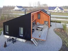 6 Relaxing Cool Ideas: Roofing Architecture Tiny Homes glass roofing outdoor.Circular Roofing Architecture roofing architecture tiny homes. Roof Architecture, Sustainable Architecture, Shed Homes, Tiny Homes, House Roof, House In The Woods, Exterior Design, Building A House, House Plans