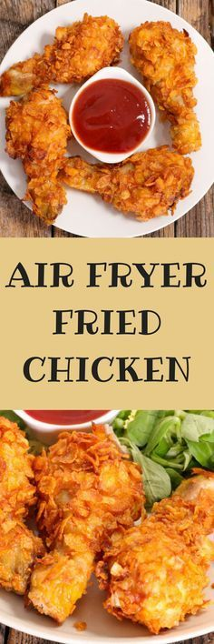 Tender and juicy with crispy skin air fryer fried chicken in just 30 minutes!