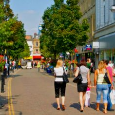 Sunshine and warmth in Doncaster Town Centre.