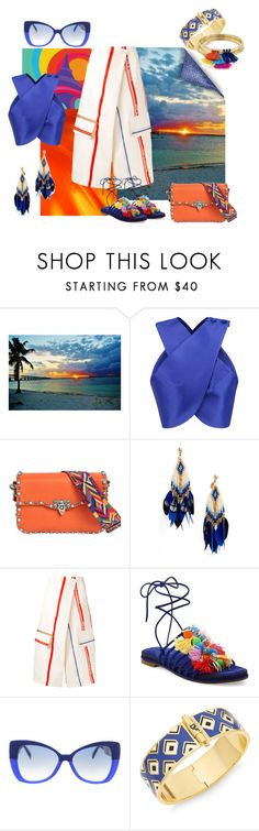 """""""summer style"""" by molly-072 ❤ liked on Polyvore featuring Carven, Valentino, Gas Bijoux, Ports 1961, Stuart Weitzman, Italia Independent, Diane Von Furstenberg and Aqua"""