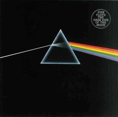 Dark Side of the Moon by Pink Floyd. The cover art is a Storm Thorgerson masterpiece. Pink Floyd Album Covers, Pink Floyd Albums, Iconic Album Covers, Rock Album Covers, Music Album Covers, Music Albums, Classic Album Covers, Box Covers, Pink Floyd Dark Side