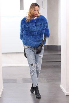 #Fashion is about dreaming and making other people #dream.  From #Milano #FashionWeek #Fox #Fur #Jacket #SAGA #ROYAL #QUALITY #MadeinItaly.  http://www.jewelsandfurs.com/web/en/shop/fox/ef001750/  #blue #elegance #furs #furfashion #pelliccia #furlove #fourrure #mode #мех #мода #luxury #style #love #amazing #beautiful #girl #outfit #shopping #jewelsandfurs