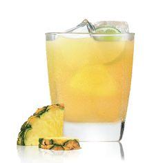 Patrón Pineapple: 1 oz Patrón Silver Tequila, .25 oz Patrón Citrónge Orange Liqueur, Pineapple juice, Lime, Garnish: Lime wheel, Glass: Rocks
