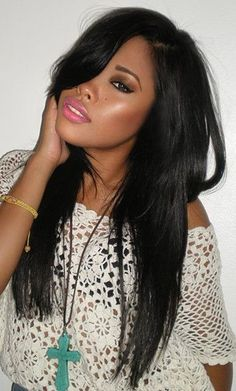Excellent Bangs Straight Weave Hairstyles And Side Bangs On Pinterest Short Hairstyles Gunalazisus