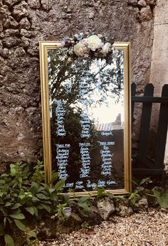 Created by Abigail WD Mirror Table Plan, Table Plans, Kind Words, Wedding Styles, Wedding Venues, Stylists, How To Plan, Frame, Art