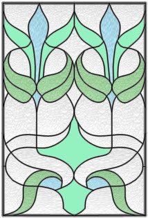 Stained glass window. This one has just the right colours for my house.
