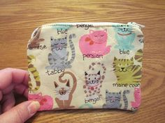 Quilted Cats Coin Purse zippered by CutePurseNalities on Etsy