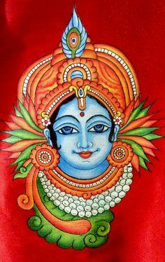 Ping me 9895473878 Saree Painting, Kalamkari Painting, Kerala Mural Painting, Krishna Painting, Madhubani Painting, Indian Art Paintings, Fabric Painting, Dress Painting, Modern Indian Art