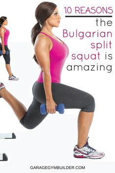 The bulgarian split squat is an often underutilized but incredibly effective exercise. Find out 10 benefits of the bulgarian split squat here. Leg Day Workouts, Fun Workouts, Benefits Of Squats, Weight Lifting, Weight Loss, High Intensity Interval Training, Workout Guide, Yoga, Physical Therapy