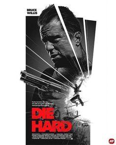 The Geeky Nerfherder: 'Die Hard' von Grzegorz Domaradzki - Entertainment Bruce Willis, Entertainment, Die Hard, Cool Art, Movie Posters, Instagram, Film Posters, Billboard, Entertaining