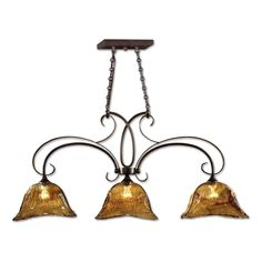 Vetraio 3 Light Bronze Kitchen Island Light