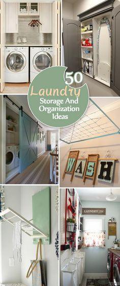 Laundry Storage And Organization Ideas.