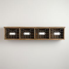 Owen Wood Wire Wall Unit | World Market...for tea? Possibly make this? add hooks to the bottom for mugs and teacups?