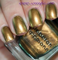 Scrangie: Deborah Lippmann Mirrored Chrome Nail Lacquer Collection for Summer 2012 Swatches and Review