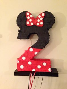 Items similar to Disney's Minnie or Mickey Mouse Number Custom Piñata on Etsy Minie Mouse Party, Minnie Mouse 1st Birthday, My Daughter Birthday, Boy Birthday, Birthday Ideas, How To Make Pinata, Little Monster Birthday, Diy, Handmade