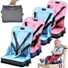 Foldable Baby Booster Seat Travel High Chair Portable Car Table Toddlers Child