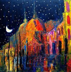"Saatchi+Online+Artist+Justyna+Kopania;+Painting,+""Venice...""+#art"