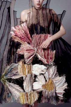 Beautiful texture created by Hungarian fashion student Lilla Cséfalvay