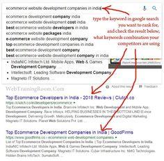 find organic keywords