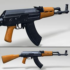 3D Model Ak 47 Assault Rifle - 3D Model