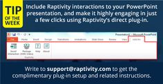 Tip of the Week: Harness the power of Raptivity in Microsoft PowerPoint