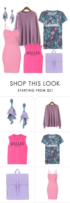brook by dodo85 on Polyvore featuring WithChic, Brian Lichtenberg, Aéropostale, Herschel Supply Co. and Oscar de la Renta