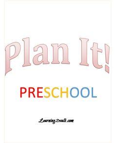 FREE Preschool Planner- if you're teaching preschool, you need this FREE planner to keep your year organized!