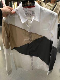 2018SSHangzhouMenswear Top ShirtSYSTEM.splicing.smart casual.design patterns.pattern geometric.spring trends. #MensFashionSmart