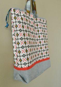 Drawstring Tote Bag PDF sewing pattern by sotakhandmade on Etsy