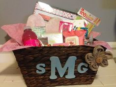October is Breast Cancer Awareness month. Here's a DIY gift basket we thought was sweet and easy to personalize.