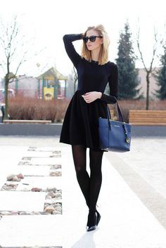 All black outfit. Winter Dress Outfits, Casual Outfits, Cute Outfits, Fashion Outfits, Womens Fashion, Winter Wedding Outfits, Black Dress Outfits, Dress Winter, Classy Outfits