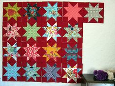 our Sawtooth Stars! by StitchedInColor, via Flickr