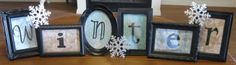 Dollar store frames - inexpensive decor several seasons shown. Noel Christmas, Winter Christmas, Winter Holidays, Xmas, Holiday Crafts, Holiday Fun, Holiday Ideas, Tree Crafts, Diy Crafts