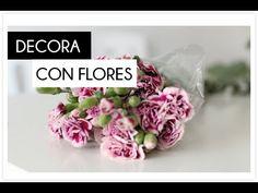 Decorar con flores la mesa y rincones de tu casa