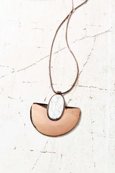 Shielded Sun Stone Pendant Necklace - Urban Outfitters