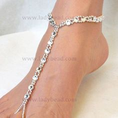 Sterling Silver Rhinestone | TLR29 Sterling Silver Rhinestone Barefoot Bling for your Destination Wedding