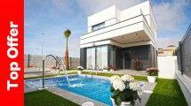 Modern Villas with private pool in Quesada Villa With Private Pool, Villas, Spain, Mansions, House Styles, Outdoor Decor, Modern, Home, Luxury Villa