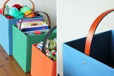 Caixas de papelão podem ser ótimas aliadas na organização de casa e ainda ajudam na decoração! Veja como