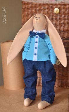Купить Мальчик-зайчик. - комбинированный, тильда, тильда заяц, Тильда Зайка, заяц, заяц игрушка