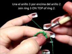 Frivolite-Tatting Lesson 112 - Ankars basico - anillos apilados - stacke...