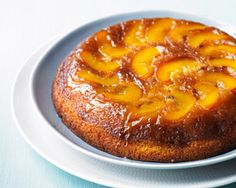 Rachel Allens - Upside down peach cake. Very nice and freeze well