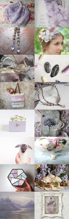 Lavender and Lilac by FrenchPaperMoon on Etsy--Pinned+with+TreasuryPin.com