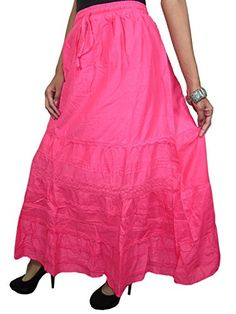 Pink Maxi Skirt Embroidered Full/ankle Length Gypsy Bohemian Long Skirt Mogul Interior http://www.amazon.com/dp/B00OH400BO/ref=cm_sw_r_pi_dp_CNxpub1E2FSMG