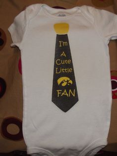Tie Onsie Says: I'm a Little Hawkeye Fan